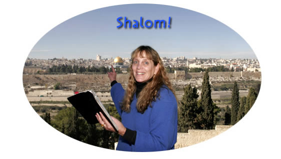 Gila Yudkin guiding on the Mount of Olives